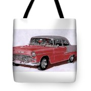 1955 Chevy Post Streeter Tote Bag