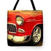 1955 Chevy Red Tote Bag