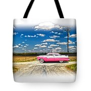 1955 Ford Crown Victoria Crossroads In Life Tote Bag