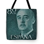 1955 General Franco Spanish Stamp Tote Bag