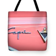 1955 Lincoln Capri Emblem 2 Tote Bag