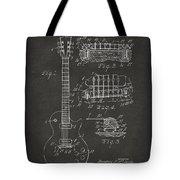 1955 Mccarty Gibson Les Paul Guitar Patent Artwork - Gray Tote Bag