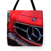 1955 Mercedes-benz 300sl Gullwing Grille Emblems Tote Bag