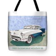 1955 Oldsmobile Holiday 88 Tote Bag