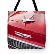 1955 Red Chevy Tote Bag