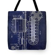 1955 Rocket Launcher Patent Drawing Blue Tote Bag