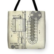 1955 Rocket Launcher Patent Drawing Tote Bag
