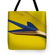 1955 Studebaker President Starlighter Hood Ornament Tote Bag