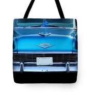 1956 Cheverolet In Blue Tote Bag