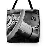 1956 Chevrolet 210 2-door Handyman Wagon Steering Wheel Emblem -189bw Tote Bag