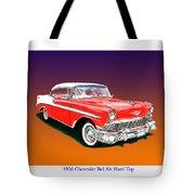 1956 Chevrolet Bel Air Ht Tote Bag