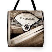 1956 Chevrolet Belair Nomad Dashboard Emblem Tote Bag