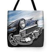 1956 Chevrolet With Blue Skies Tote Bag