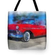 1956 Chevy Car Photo Art 01 Tote Bag