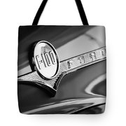 1956 Ford F-100 Pickup Truck Emblem Tote Bag