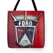 1956 Ford Fairlane Emblem Tote Bag