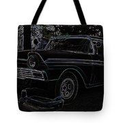 1956 Ford Neon Coupe Tote Bag