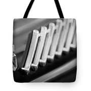 1956 Ford Thunderbird Emblem -278bw Tote Bag
