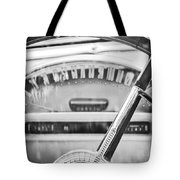 1956 Ford Thunderbird Steering Wheel -260bw Tote Bag