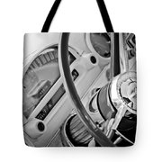 1956 Ford Thunderbird Steering Wheel -322bw Tote Bag