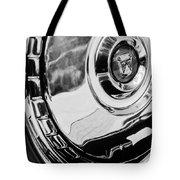 1956 Ford Thunderbird Wheel Emblem -232bw Tote Bag