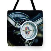 1956 Lincoln Continental Mark II Hess And Eisenhardt Convertible Steering Wheel Emblem Tote Bag