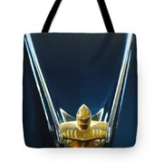 1956 Lincoln Premiere Convertible Hood Ornament Tote Bag