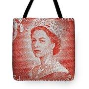 1956 Queen Elizabeth New Zealand Stamp Tote Bag