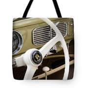1956 Vw Convertible Steering Wheel Tote Bag