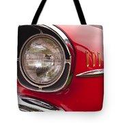 1957 Chevrolet Bel Air Headlight Tote Bag