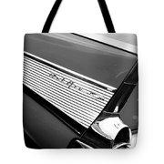 1957 Chevrolet Belair Convertible Taillight Emblem Tote Bag