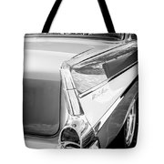 1957 Chevrolet Belair Coupe Tail Fin -019bw Tote Bag