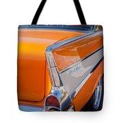 1957 Chevrolet Belair Taillight Emblem -019c Tote Bag
