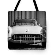 1957 Chevrolet Corvette -0010bw Tote Bag