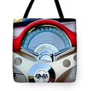 1957 Chevrolet Corvette Convertible Steering Wheel Tote Bag