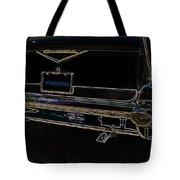 1957 Chevrolet Rear View Art Black_varooom Tag Tote Bag