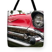 1957 Chevy Bel Air Front End Tote Bag