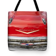 1957 Chevy Front End Tote Bag