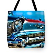 1957 Chevy Grille Tote Bag