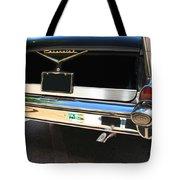 1957 Chevy Rear View Car Art Tote Bag