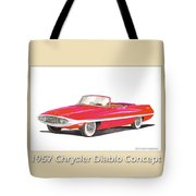 1957 Chrysler Diablo Convertible Coupe Tote Bag by Jack Pumphrey