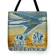 1957 Czechoslovakia Airline Stamp Tote Bag