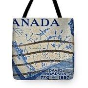1957 David Thompson Canada Stamp Tote Bag