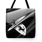1957 Ferrari Tr 250 - 0714 Emblem -0379bw Tote Bag