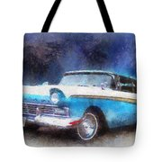1957 Ford Classic Car Photo Art 02 Tote Bag