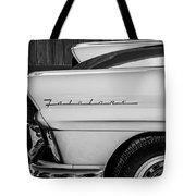 1957 Ford Fairlane Emblem -359bw Tote Bag