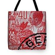 1957 German Democratic Republic Chemist Stamp Tote Bag