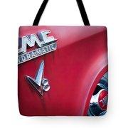 1957 Gmc V8 Pickup Truck Gmc Hydra-matic Emblem Tote Bag
