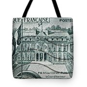1957 Palais Del Elysee Paris Stamp Tote Bag