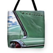 1958 Cadillac It's All In The Fin. Tote Bag